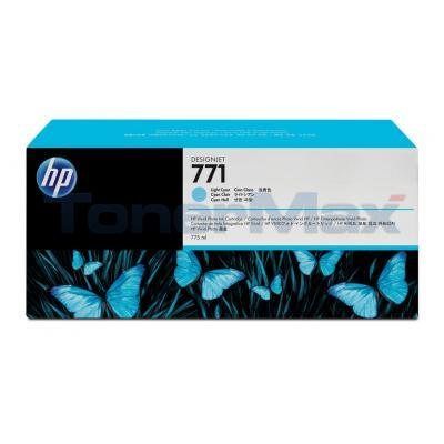 HP NO 771 DESIGNJET INK CART LIGHT CYAN 775ML